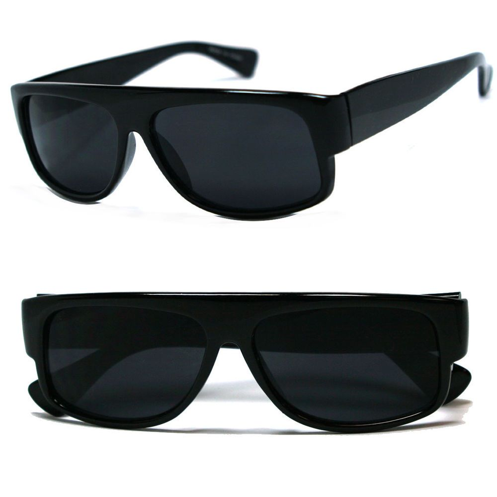 45192f0368 Classic Old School Eazy E Flat GANGSTER CHOLO Sunglasses Super Dark in  Clothing