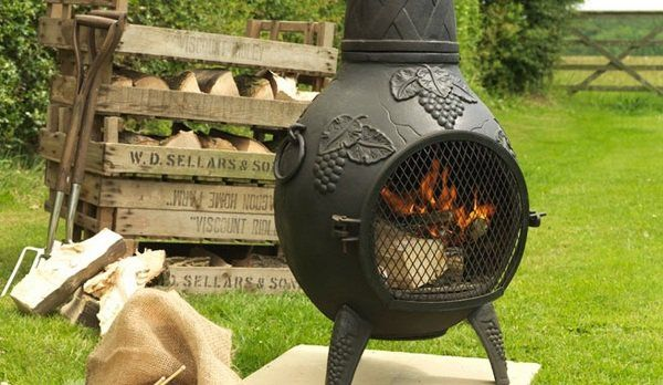 Cast Iron Chiminea Chimney Garden Fireplace Small Patio Furniture Ideas Chiminea Best Spray Paint Bbq Paint