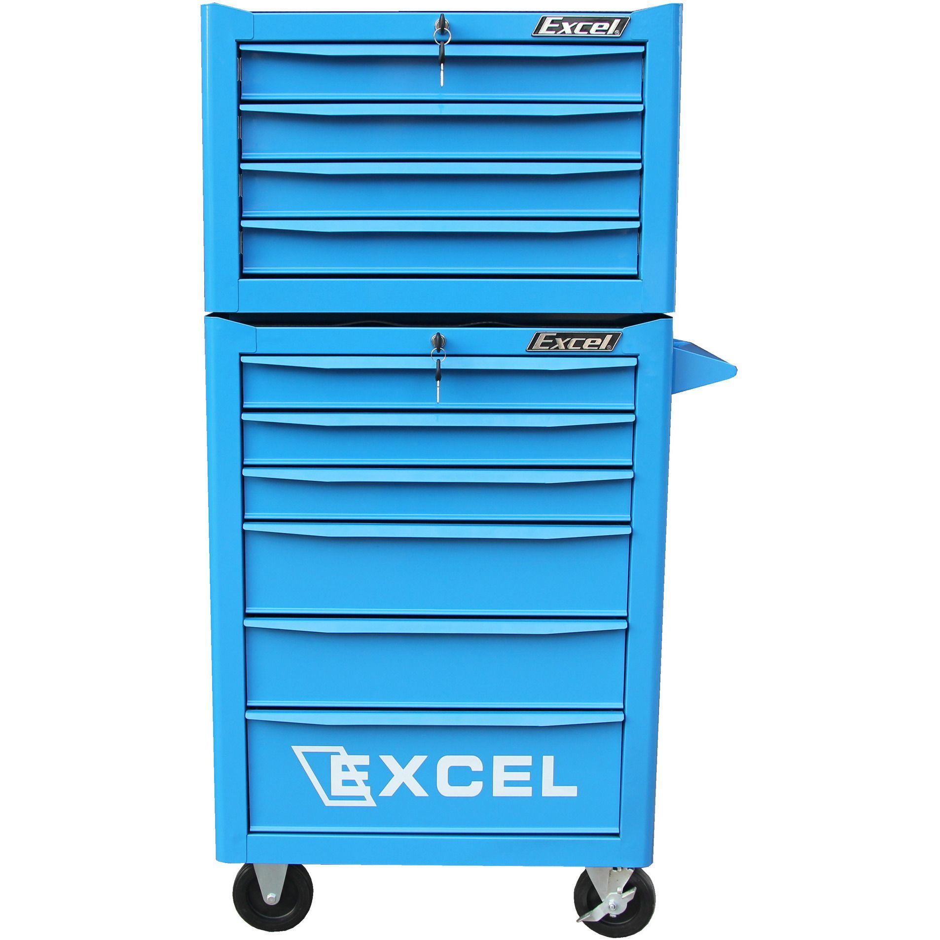 excel hardware 10 drawer rolling tool box combo