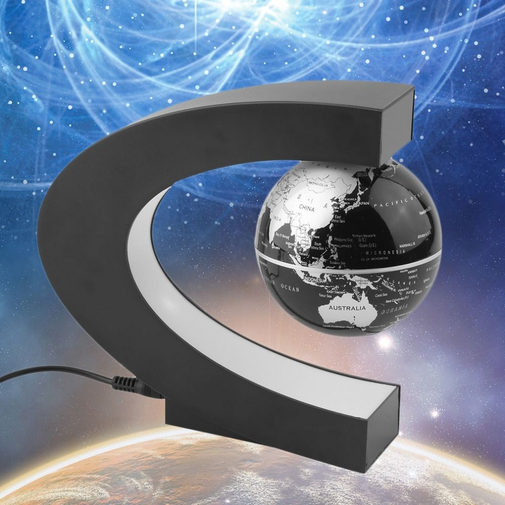 Hot magnetic levitation floating globe c shape world map anti hot magnetic levitation floating globe c shape world map anti gravity earth globe led light gumiabroncs Images
