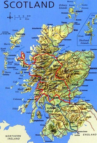 Map Of Scotland Uk Scotland Tourist Map Scotland Mappery