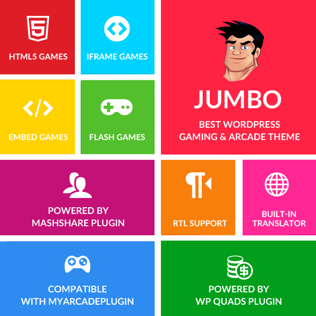Jumbo - WordPress Magazine & Arcade Theme for HTML5 Games