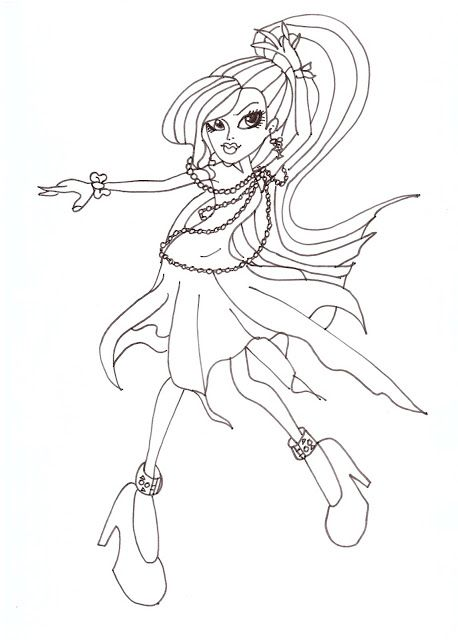 monster high coloring pages to print | All About Monster High Dolls ...