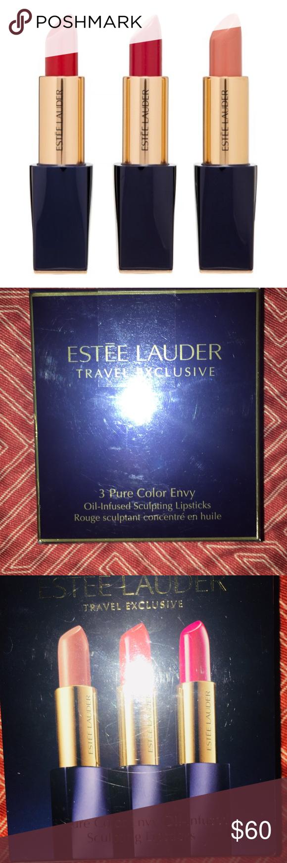 Estée Lauder travel exclusive lipstick trio set A sixhour