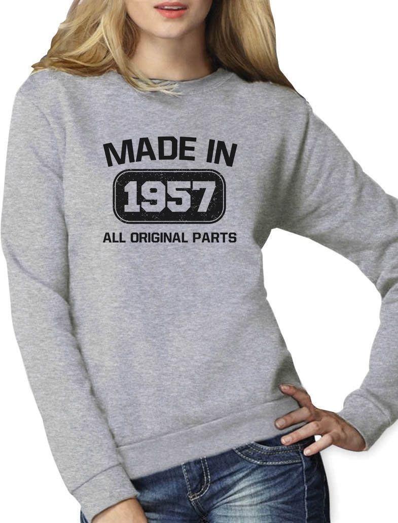 Made In 1957 60Th Birthday Gift Idea Women Sweatshirt Retirement Present