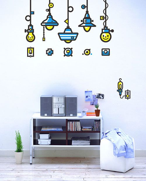 25 smashing sticker design illustrations decorate your home