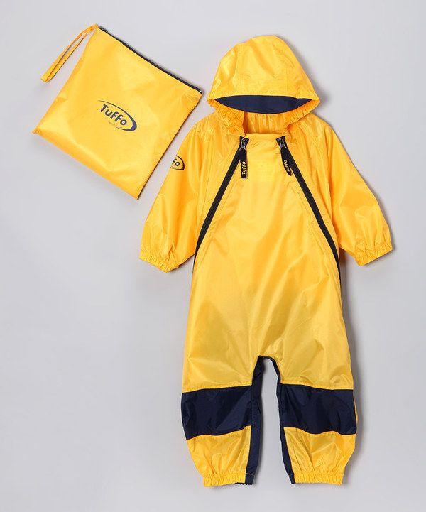 84ff4970dc82e7 Look at this Yellow Muddy Buddy Waterproof Coveralls - Infant, Toddler