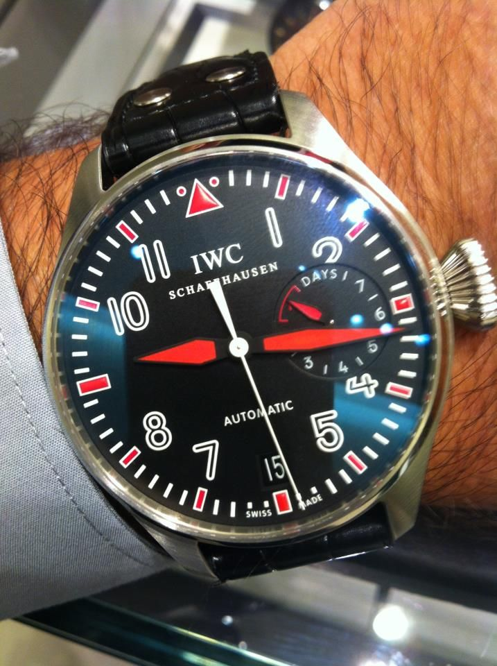 iwc big pilot limited edition black red iwc iwc. Black Bedroom Furniture Sets. Home Design Ideas