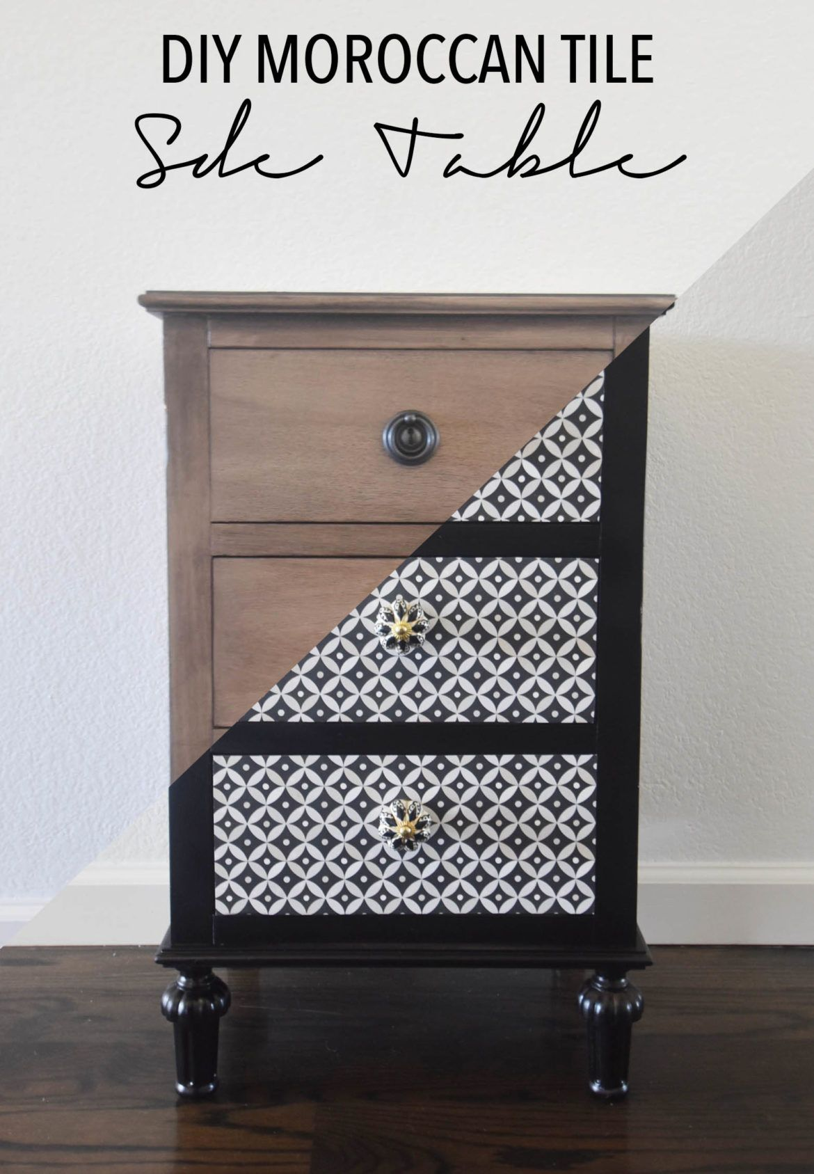 Diy Moroccan Side Table With Spoonflower Diy Furniture Easy Decor Moroccan Side Table