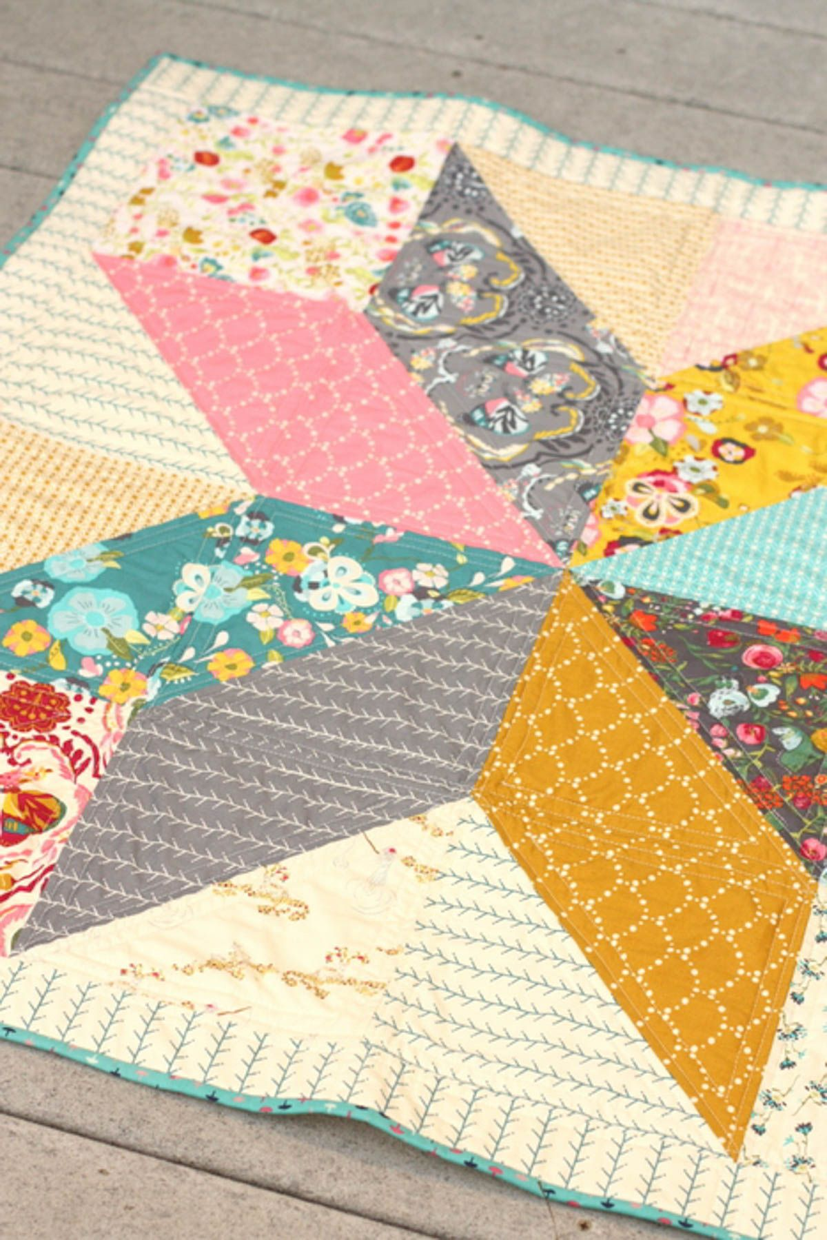 Lone Star Baby Quilt Tutorial, Part I | Hilo