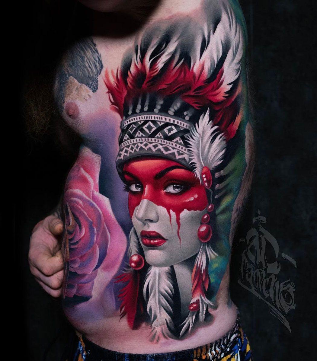 Native American Girl Native American Girl Tattoo Native American Girls Native American Tattoos
