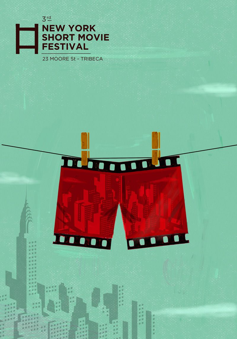 New York Short Movie Festival On Behance Film Festival Poster Festival Music Festival Poster