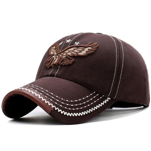 2212cd3c87d4e2 2018 New Heavy Washed Denim 3D Eagle Embroidery Baseball Caps Men Women  Sports Active Casual Hat One Size Adjustable