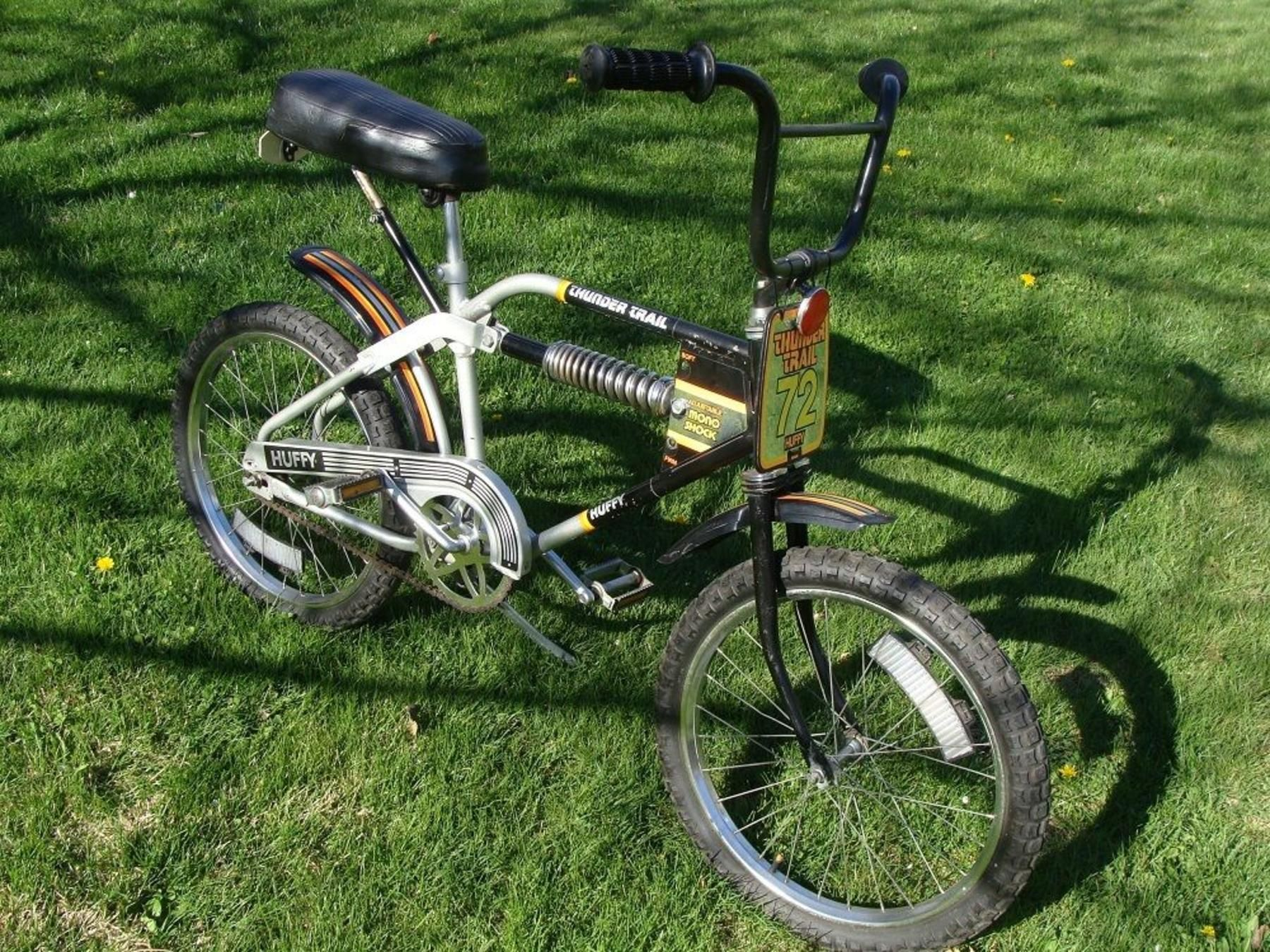 1977 Huffy Thunder Trail Monoshock Bicycle Pinterest