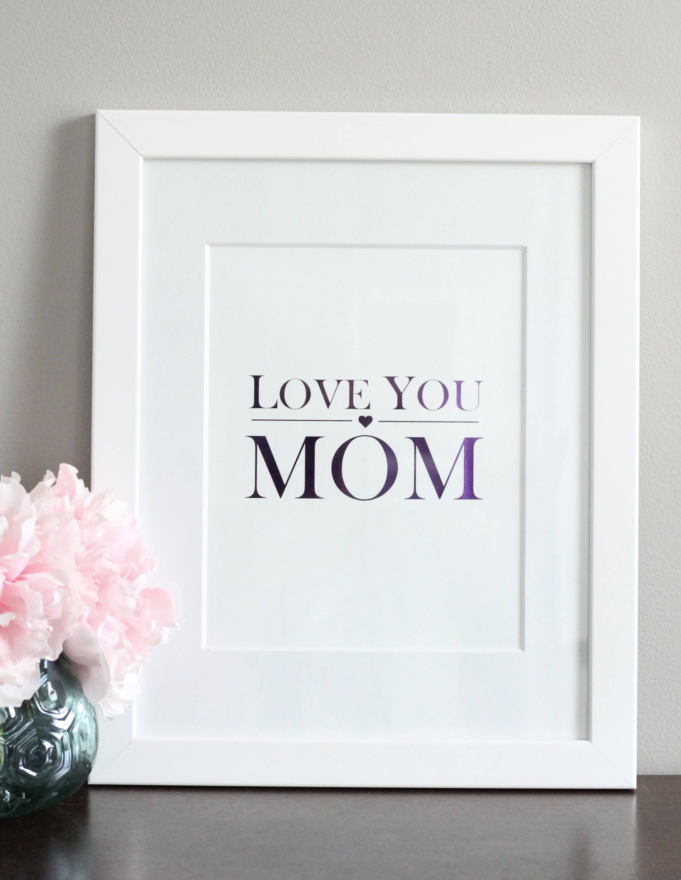 Love you Mom. Mother\'s Day Gifts! | Gifts | Pinterest