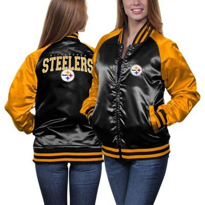 promo code 3a25b 794b0 MTC Pittsburgh Steelers Women's Team Spirit Satin Jacket ...