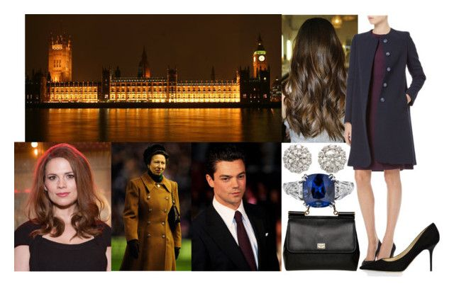 """""""Being photographed viewing Westminster Abbey with Louis, Antonia and her godmother Princess Anne"""" by charlottewales ❤ liked on Polyvore featuring Atwell, Dolce&Gabbana and Jimmy Choo"""
