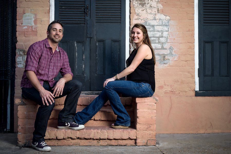 #BigDay #weddings #neworleans    Stephanie & Mark's Grunge Engagement Shoot Check more at http://bigday.io/2015/10/19/stephanie-marks-grunge-engagement-shoot/