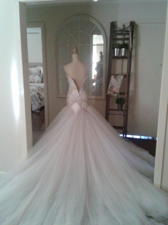 j'aton couture | aton Couture - Strapless - Ivory - Size 8 wedding dress for sale in ...