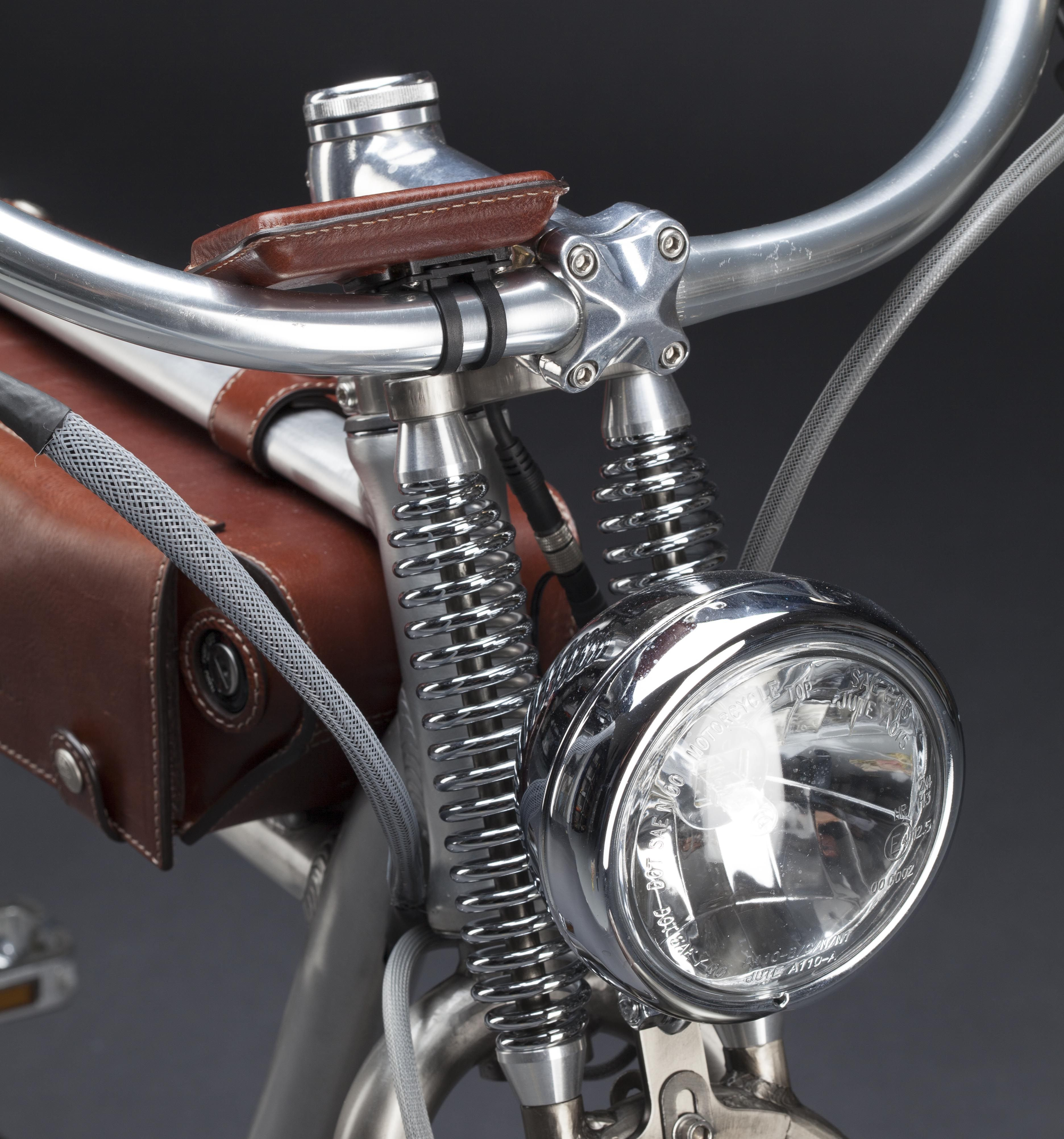 Electric Motor Kits For Push Bikes: Front Fork/Head Lamp Details