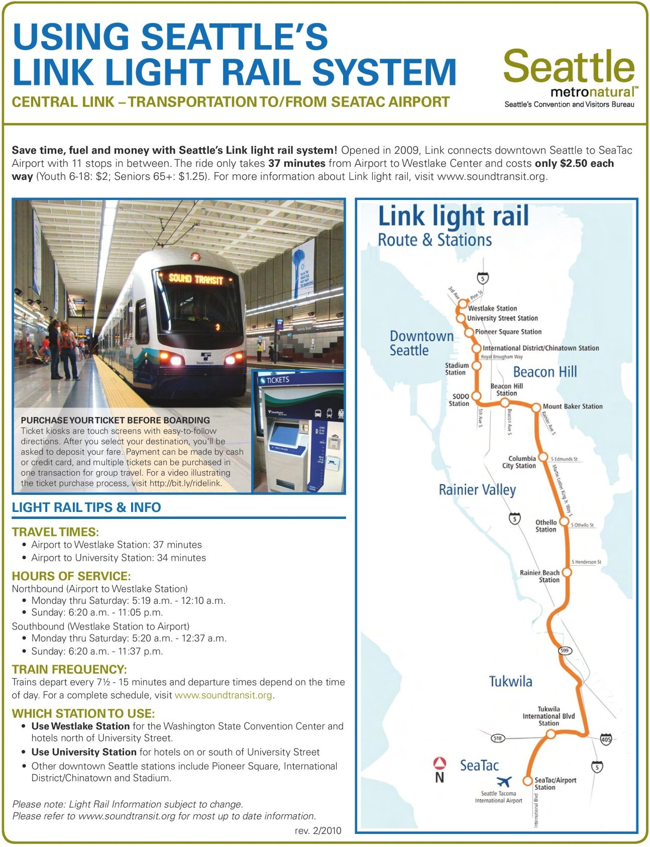 Seattle light rail map  Travel  Pinterest  Light rail and Seattle