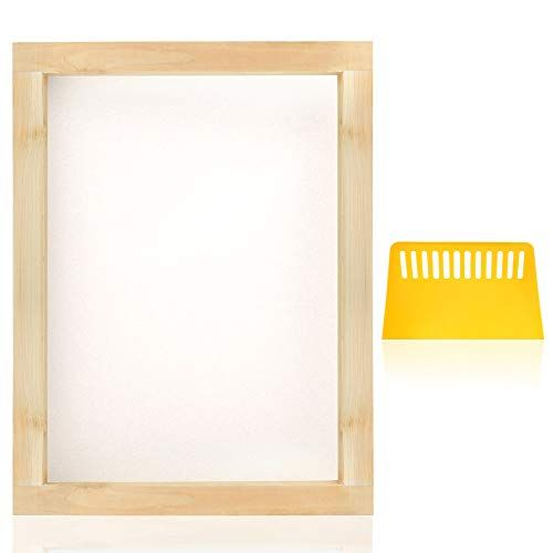Pp Opount 8 X 10 Inch Wood Silk Screen Printing Frames With 110 White Mesh And 1 Piece Plastic Scrap In 2020 Screen Printing Frame Silk Screen Printing Screen Printing