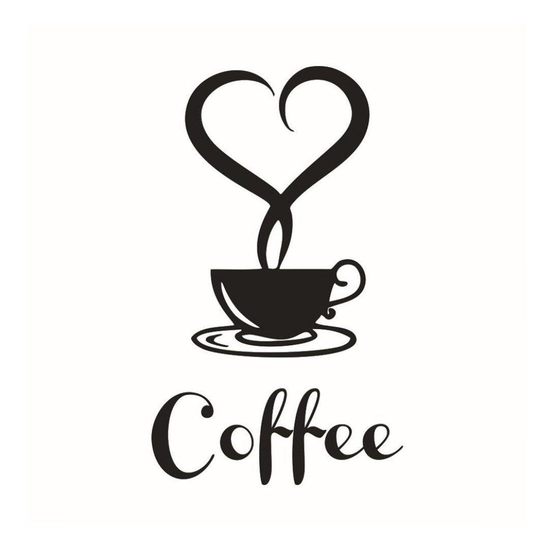 LUNIWEI Removable DIY Kitchen Decor Coffee Cup Decals Vinyl Mug Wall ...