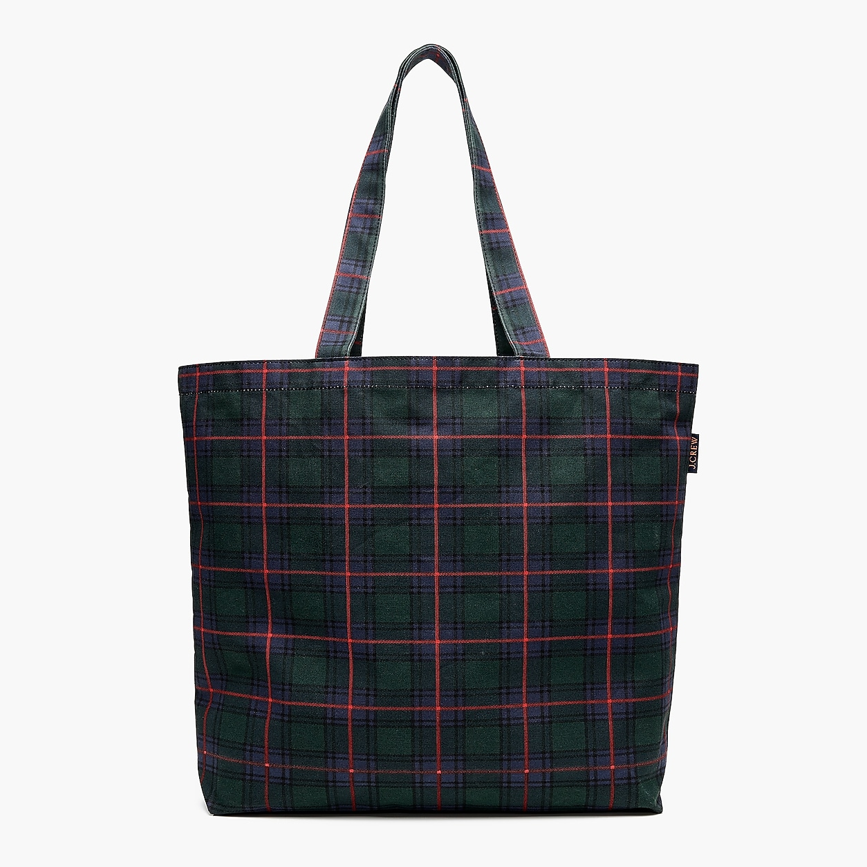 00999f9ecb Large Reusable Everyday Tote In Black Watch Plaid