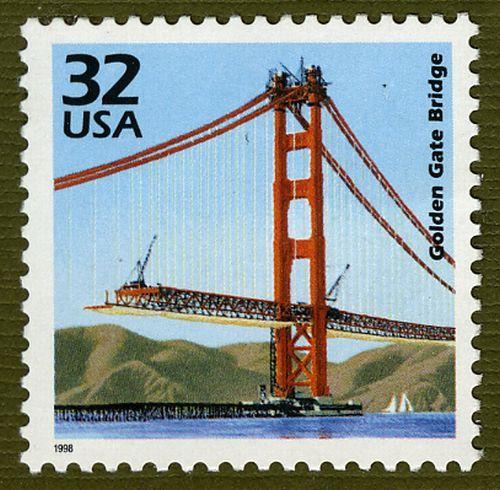 golden gate bridge stamp vintage covers posters pinterest golden gate bridge golden. Black Bedroom Furniture Sets. Home Design Ideas