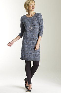dress with leggings and flats  ac442acc654c
