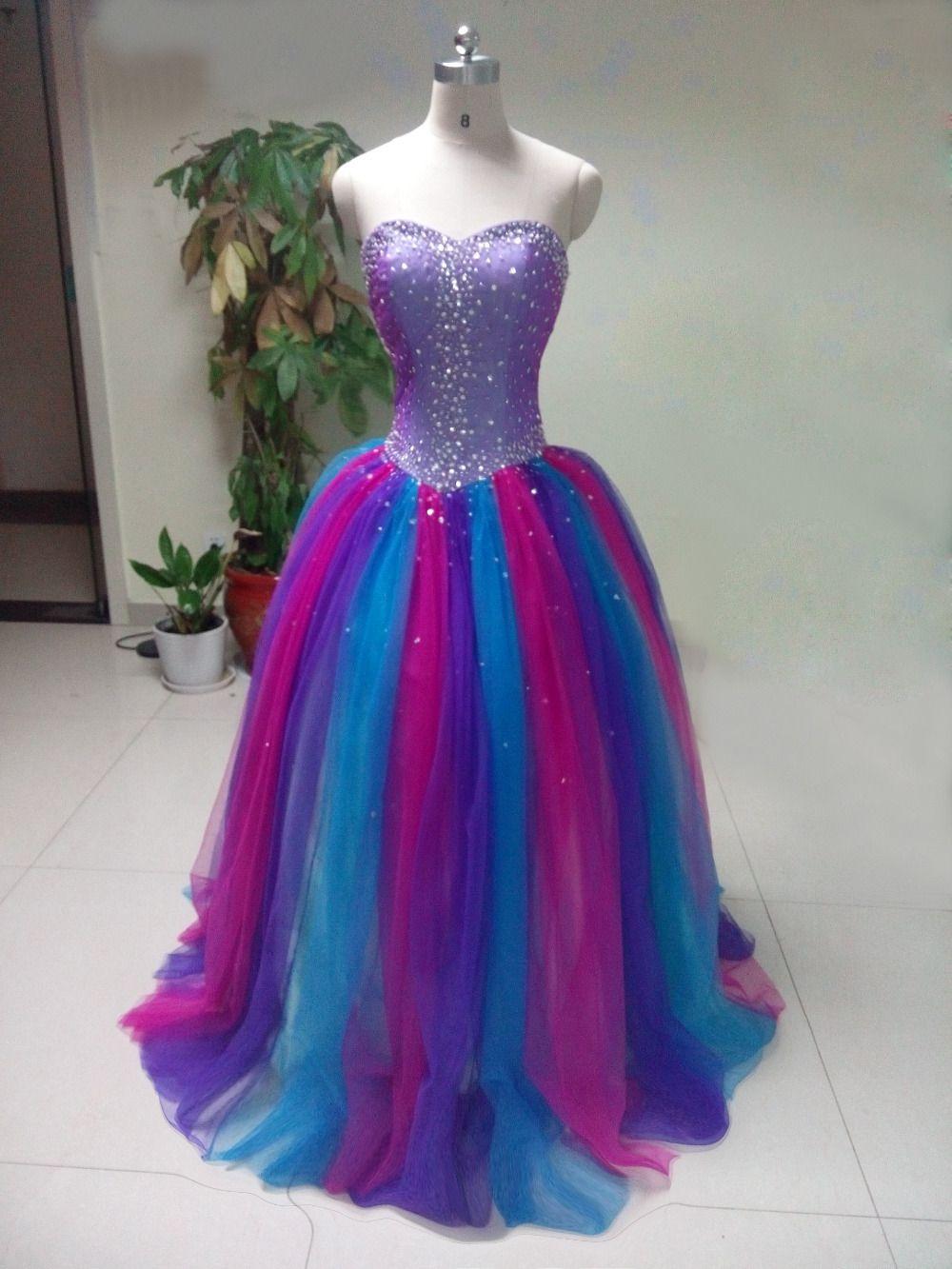 Colorido-vestidos-Quinceanera-roxo-de-dois-tons-querida-Prom ...