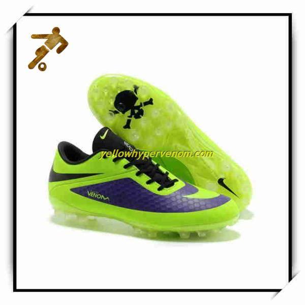2014 Nike Mercurial Hypervenom Phantom AG Electro Purple Football Boots Gold 59703fce2