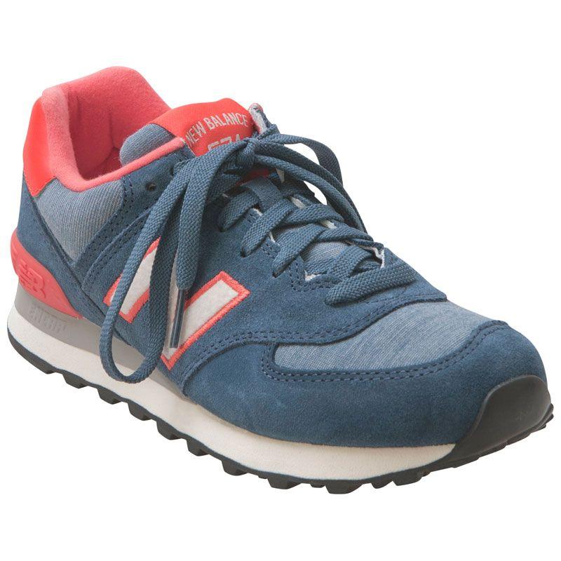 82d96e9d4b1f New Balance Women s 574 Pennant Pack Blue Coral Running Sneaker ...