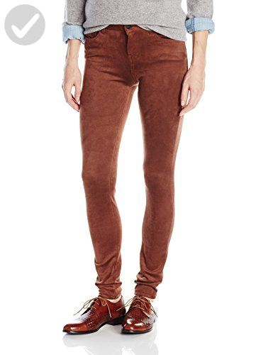 Kensie Jeans Women S Suede Skinny Pant Deep Camel 25 All About