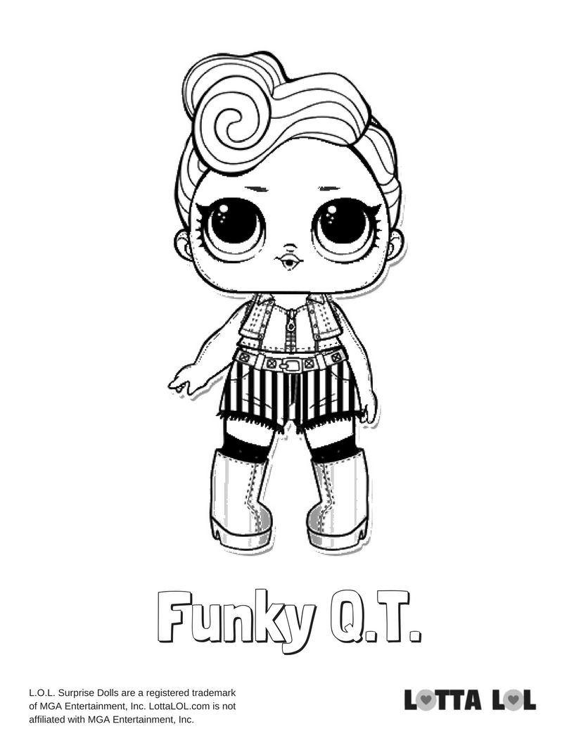 Funky QT Coloring Page Lotta LOL | COLORING PAGES! | Pinterest | Dolls