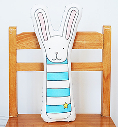 Bunny pillow via Fancy HuLi | Designer Gift Shop for Animal Lovers | Bunny Lovers