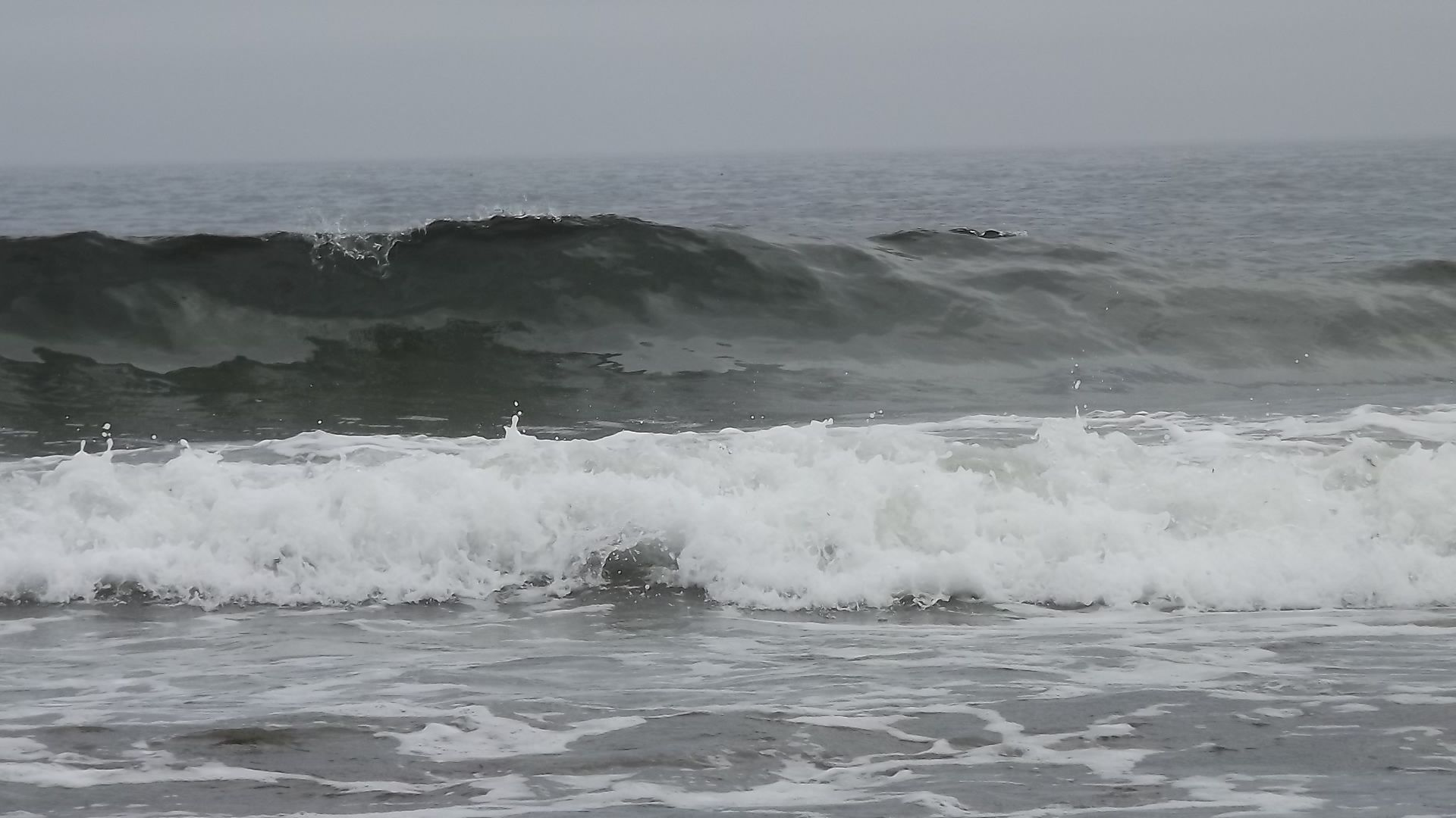 Rolling waves onto Mother's Beach, Kennebunk, ME