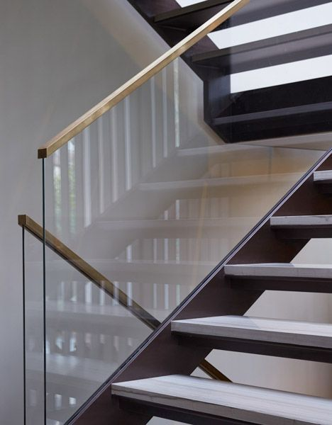 Oak Brass Glass Stairs Staircase Design Glass Railing Stairs