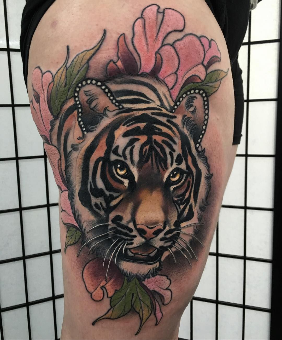 Realism Tattoo Image By Stephanie Kotarba On Tatoos Traditional Tiger Tattoo