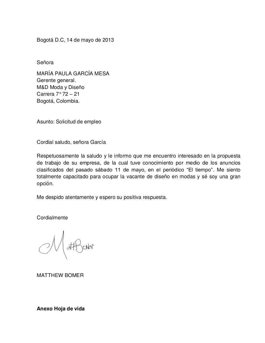 HOJAS DE VIDA Y CARTAS PRESENTACIÓN by MariaPaulaGarcia1412 via ...
