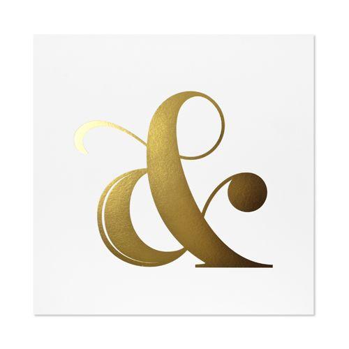 solid gold ampersand art print | sugar paper los angeles