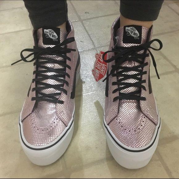Vans sk8- Hi top metallic pink