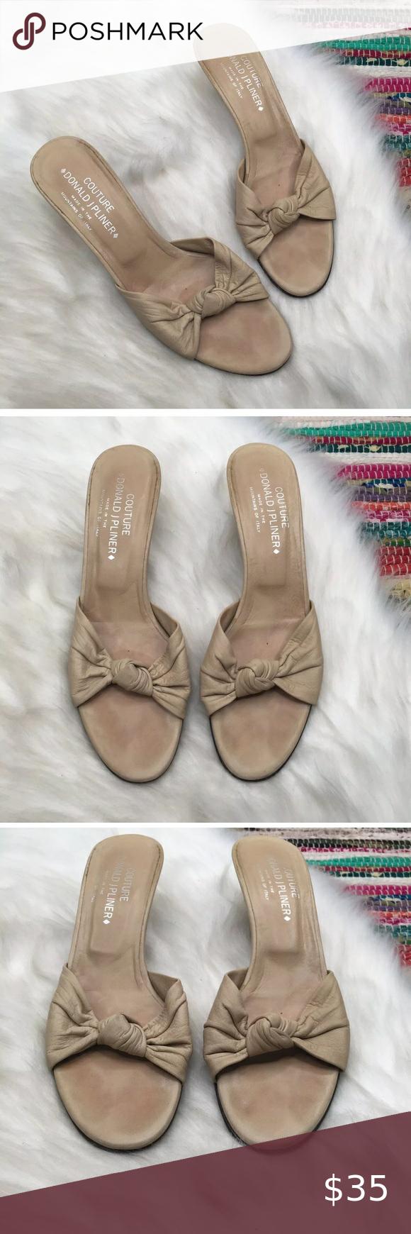 Donald J Pliner Kina Kitten Heel Sandals 9 N Sand Couture By Donald J Pliner Women S Kina Nappa Leather Kitten H In 2020 Kitten Heel Sandals Sandals Heels Kitten Heels