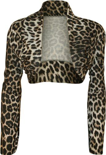 8dfb67ce750 WearAll Women s Plus Size Animal Print Open Shrug - Leopard - US 14-16 (UK  18-20) Amazon