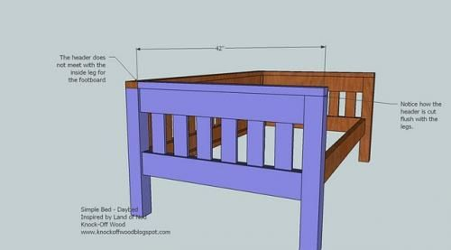 Ana White Simple Daybed Diy Projects Throughout Daybed Plans
