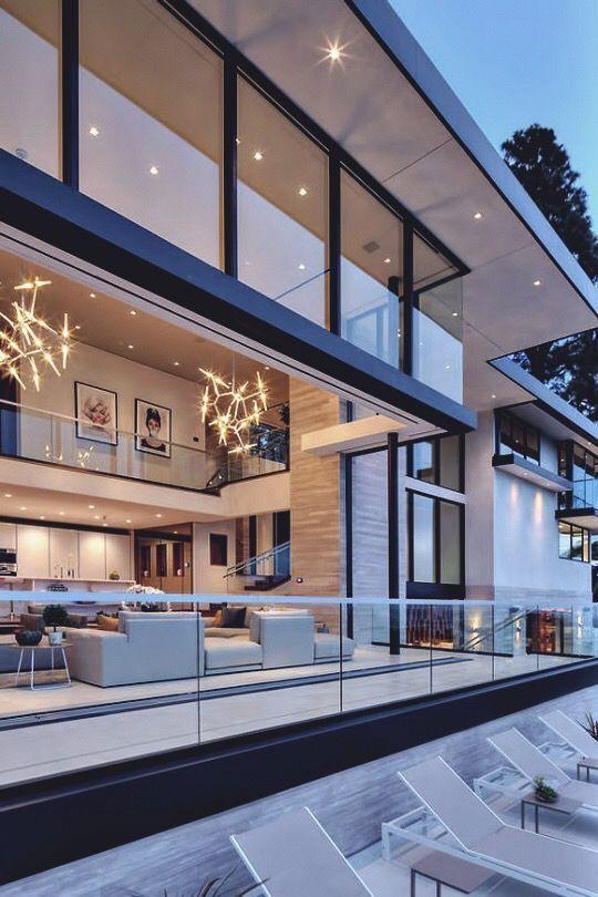 baie vitrée mezzanine et carré en verre | Maisons modernes ...