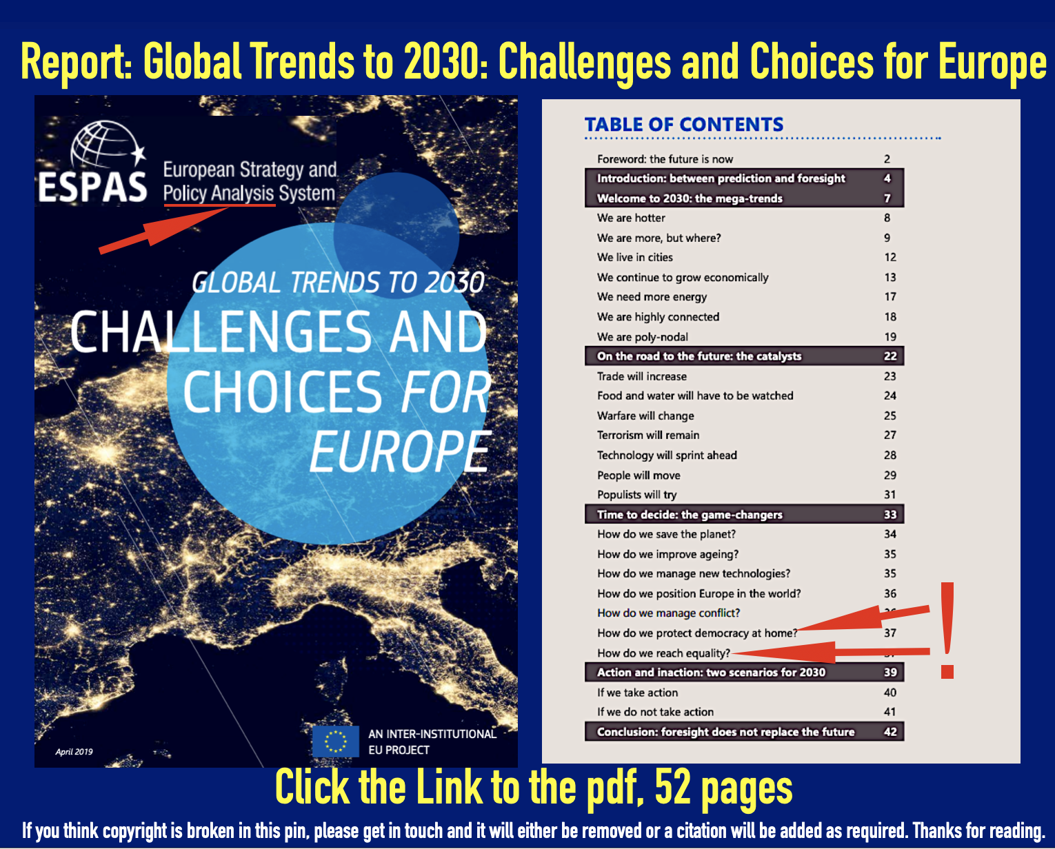 Report Global Trends To 2030 Challenges Choices For Europe Link To The Pdf 52 Pages