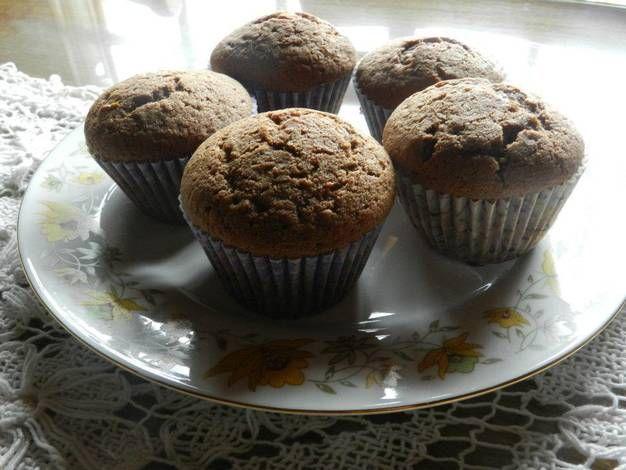 Muffins de salvado de avena y nueces