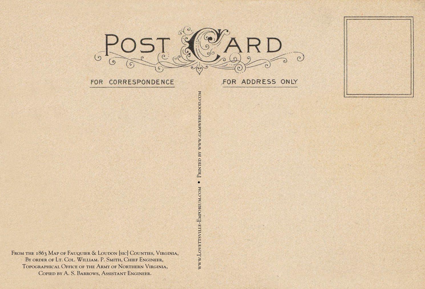 So Lovely Postcards Vintage Postcards Postcard Template Paper