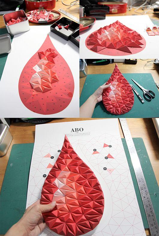 Irgendwie ein gebasteltes 3D Herz  Für die Einladungen  Pinterest  종이 공예 ...